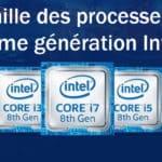 Processeur Intel 8ème génération et haute performances