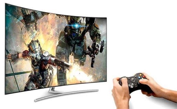 console-de-jeux-sur-television