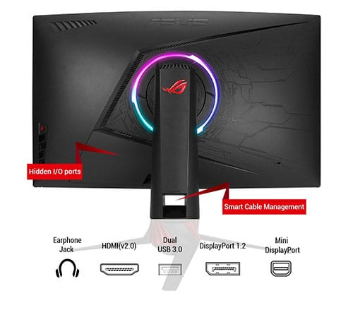 ASUS-ROG-XG32VQ-Ecran-PC-gaming-eSport-vue-de-dos