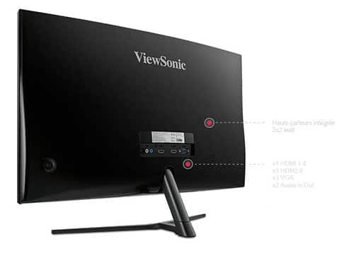 ViewSonic-VX2758-c-mh-Moniteur-VA-27-pouces-Full-HD-1920×1080-Pixels-vue-de-dos