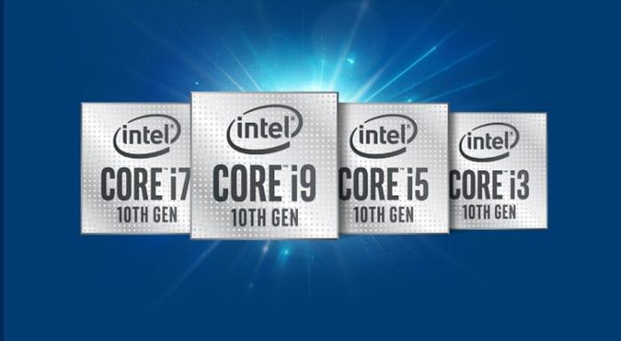 Processeurs De 10e Génération D'intel